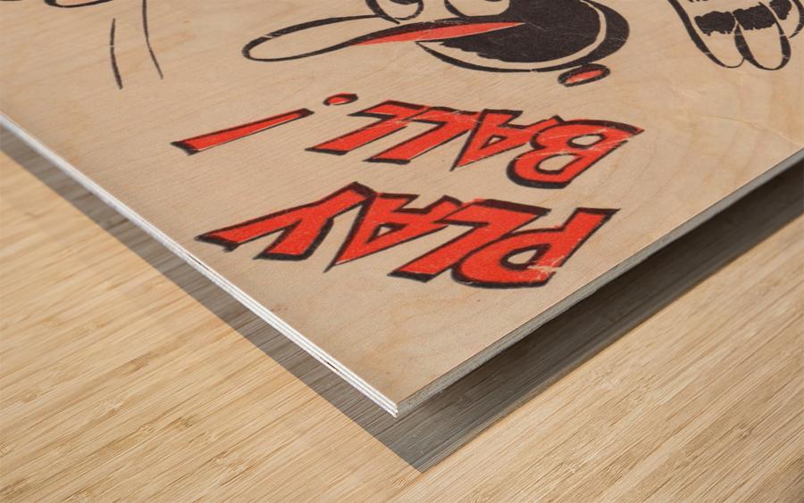 baltimore orioles posters wall art play ball art cartoon baseball print metal canvas acrylic artwork Impression sur bois