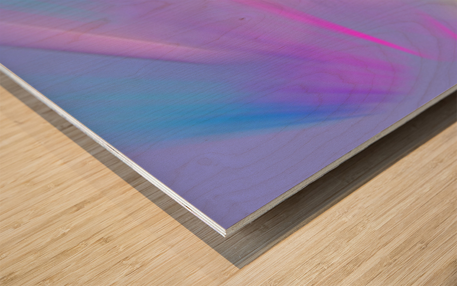 Purple Comet Wood print