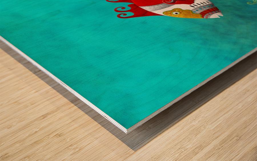 Ballistini Japonicus Wood print