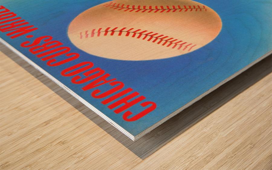Retro Remix_Chicago Cubs Wrigley Field Art Poster_Vintage Cubs Artwork_Vintage Baseball Poster Wood print