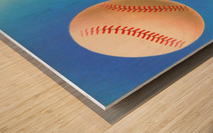 Baseball Pitcher Art Wood print