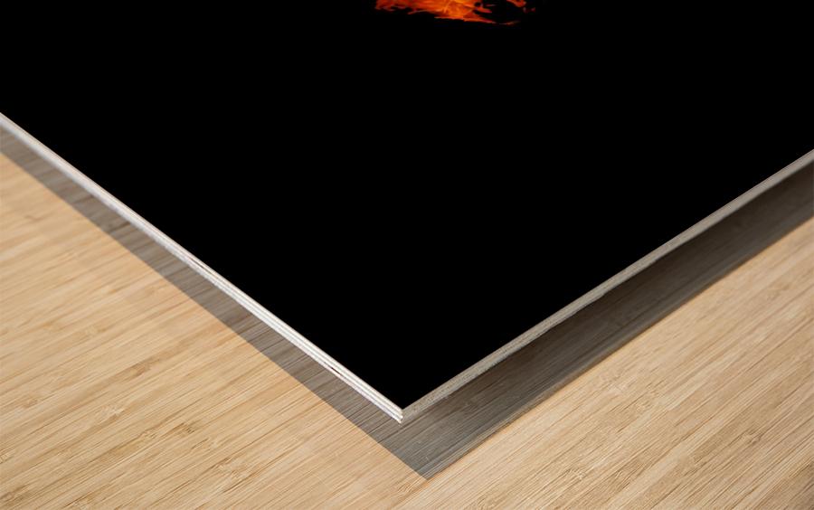 Burning on Fire Letter B Wood print