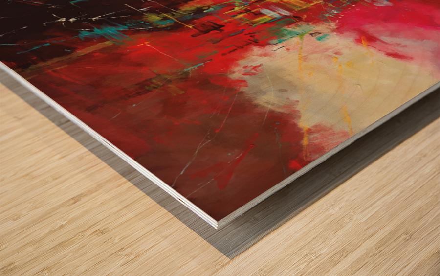 CASCADA ROJA Wood print