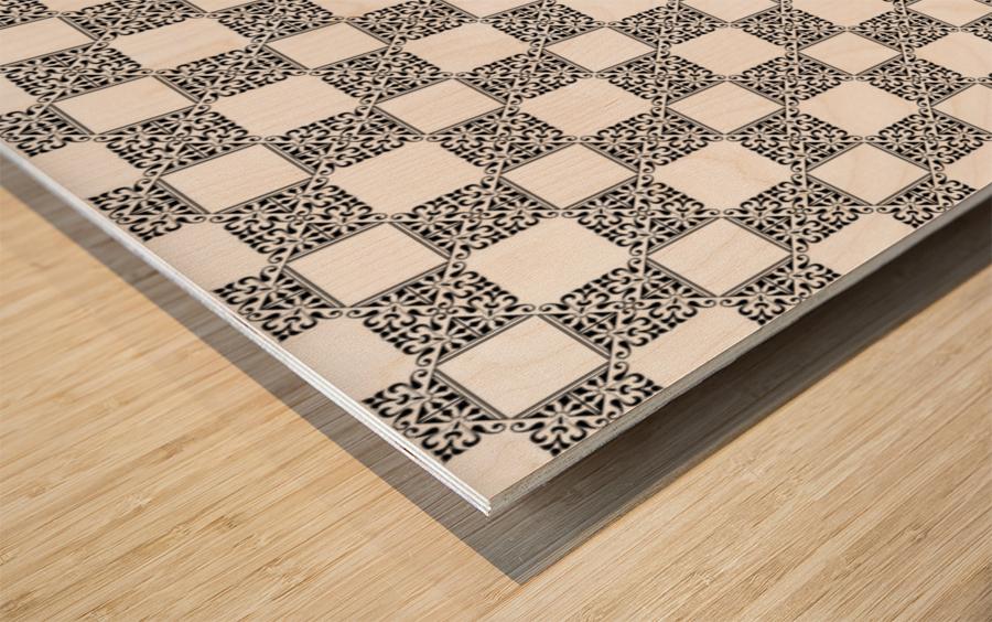 seamlesstilederivativepattern Wood print