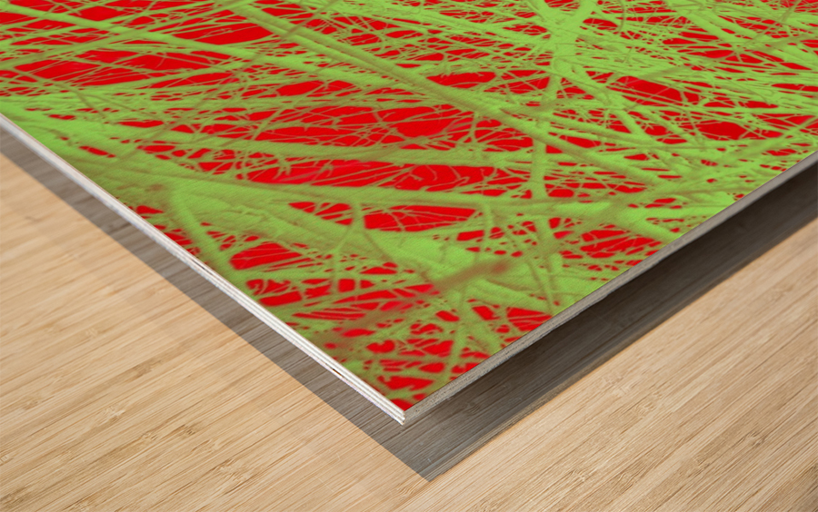 Tree-Line Drawing Wood print