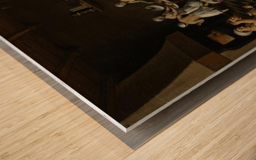 The Legend of the Baker of Eeklo Wood print