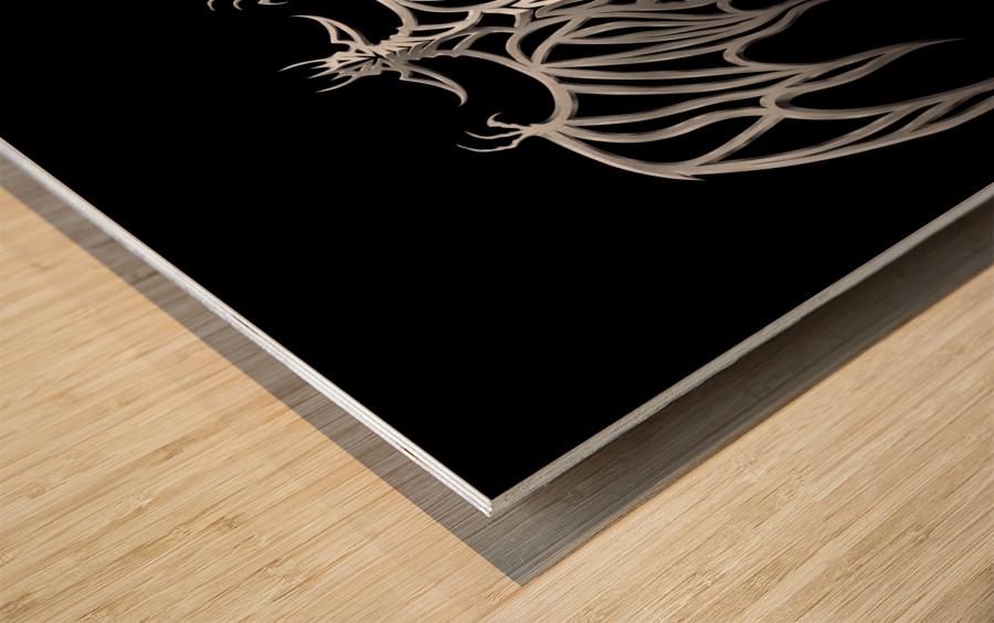 Drakulax Volkanun Wood print
