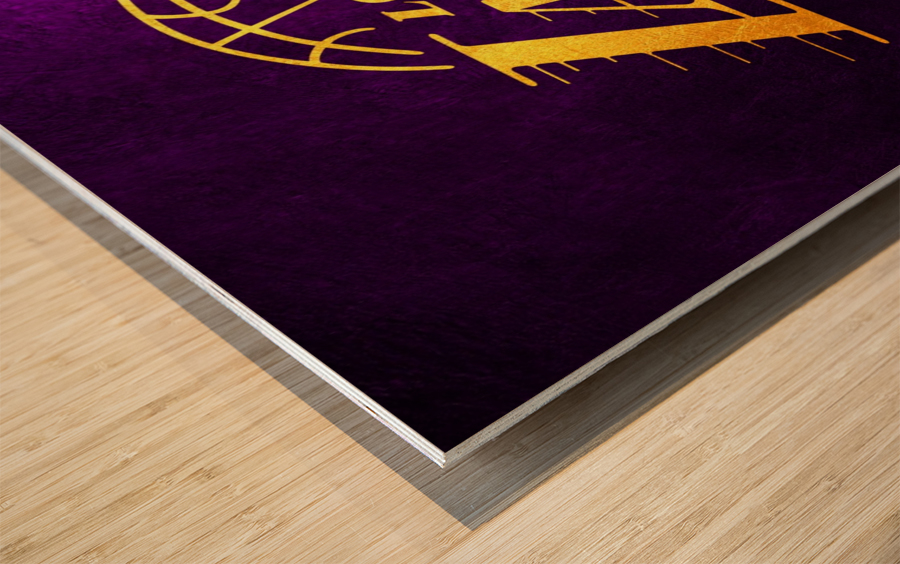 Lakers Wood print