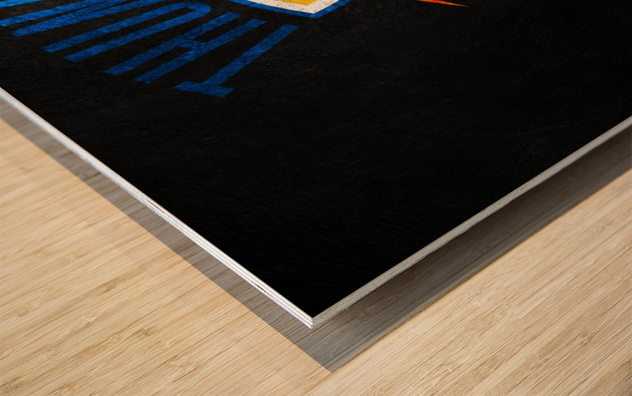 Oklahoma City Thunder Wood print