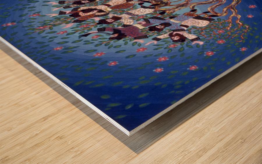 BNC1989-028 Impression sur bois