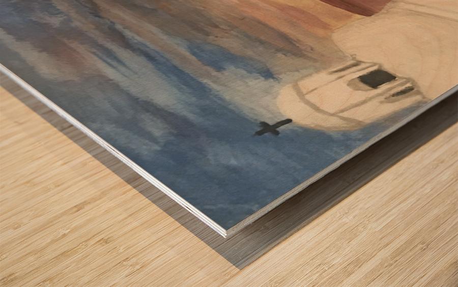 A Greek Island Wood print