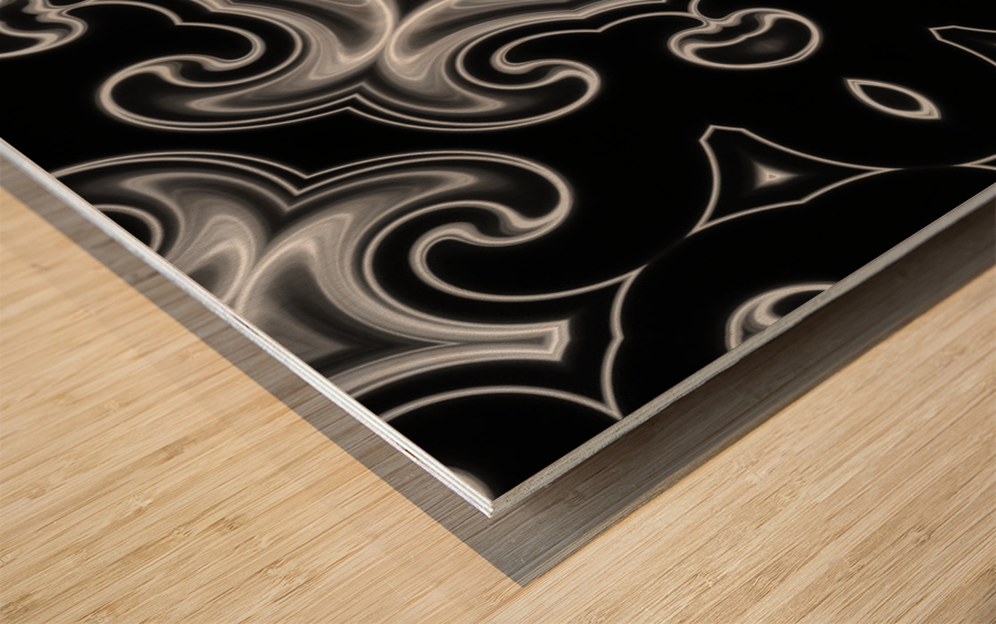 Abstract Fractal Wood print