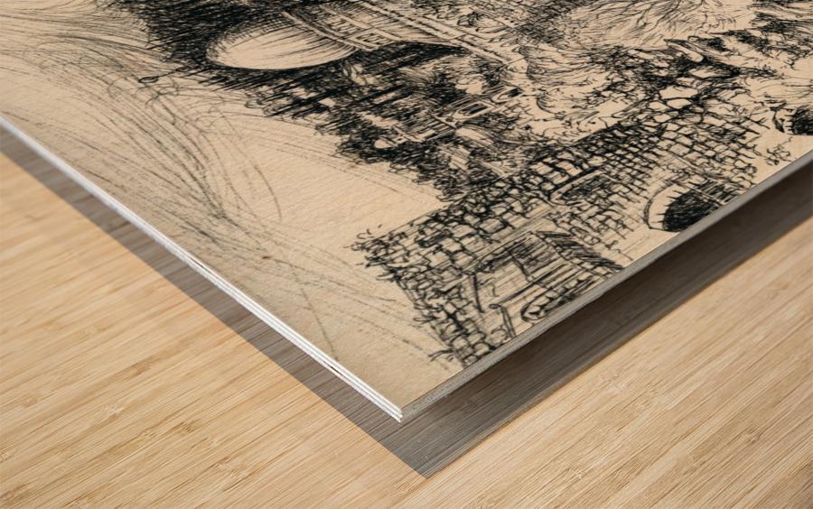 BNC1967-02 Impression sur bois