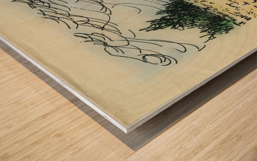 BNC1967-025 Impression sur bois