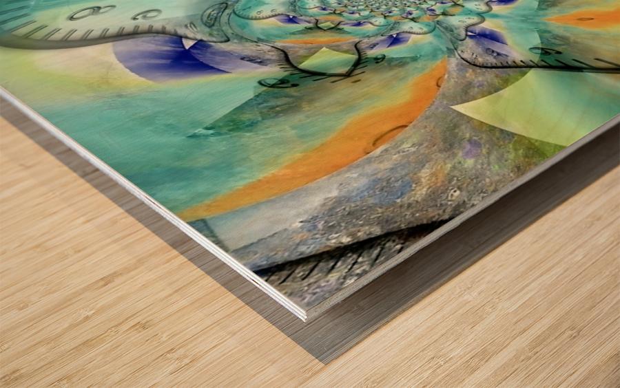 Infinite Vibes Wood print