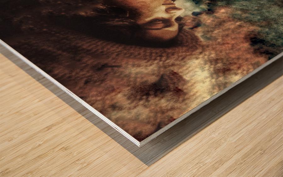 Girl by the Ocean Wood print