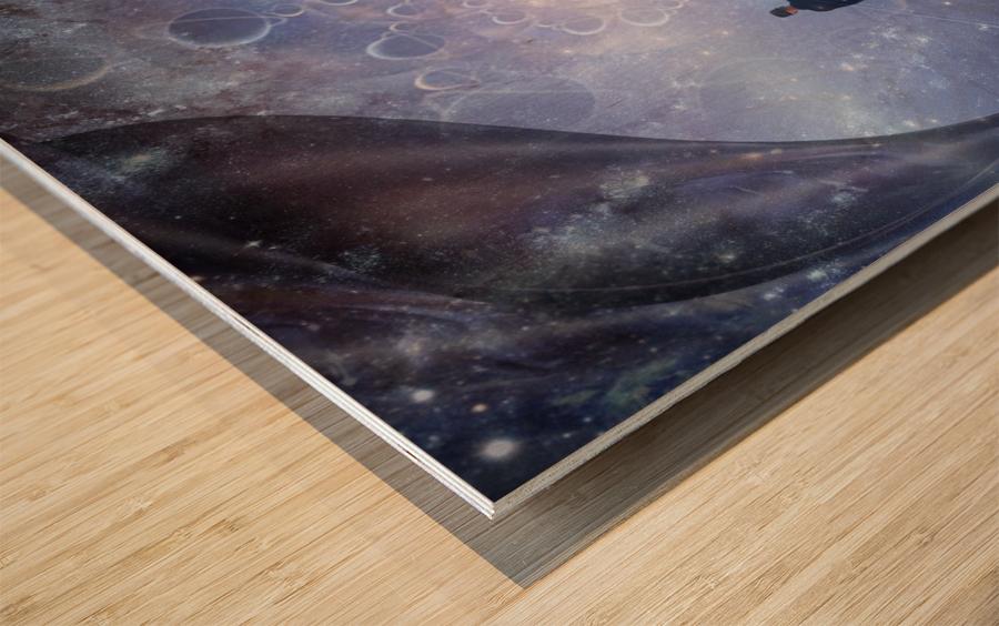 Man in Universe Wood print