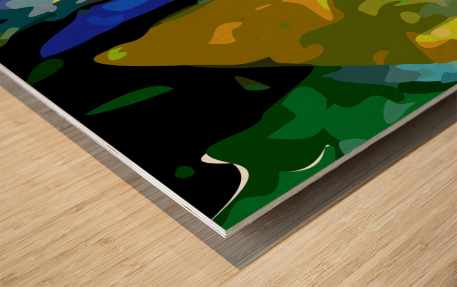 second nature Wood print