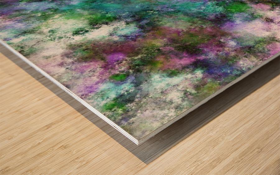 A fluid situation Wood print