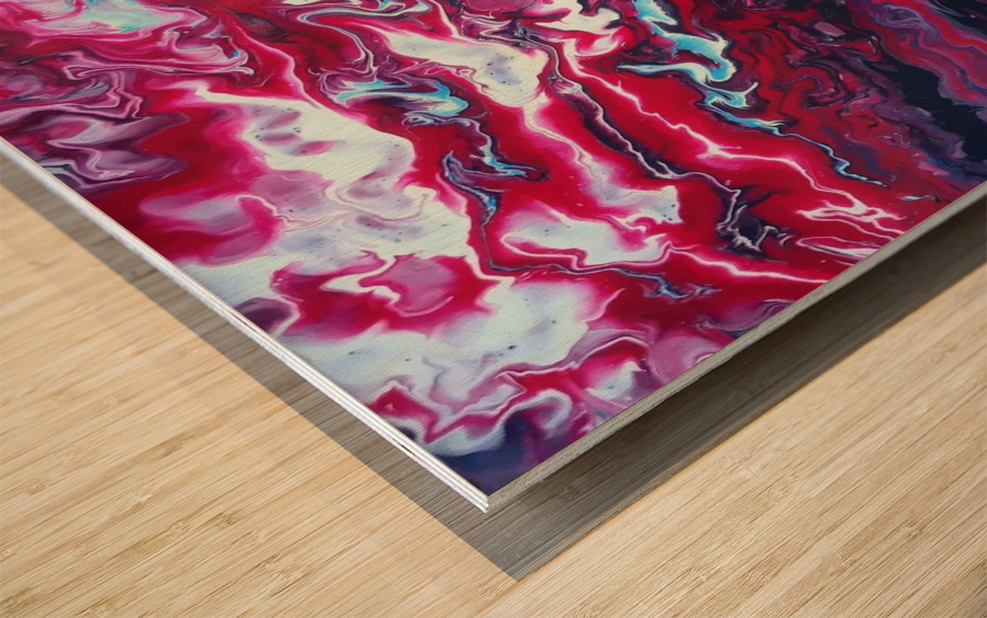 Red and purple sunset Wood print
