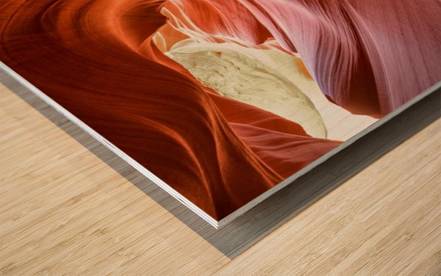 Interior of Antiloppe canyon page Arizona USA Wood print