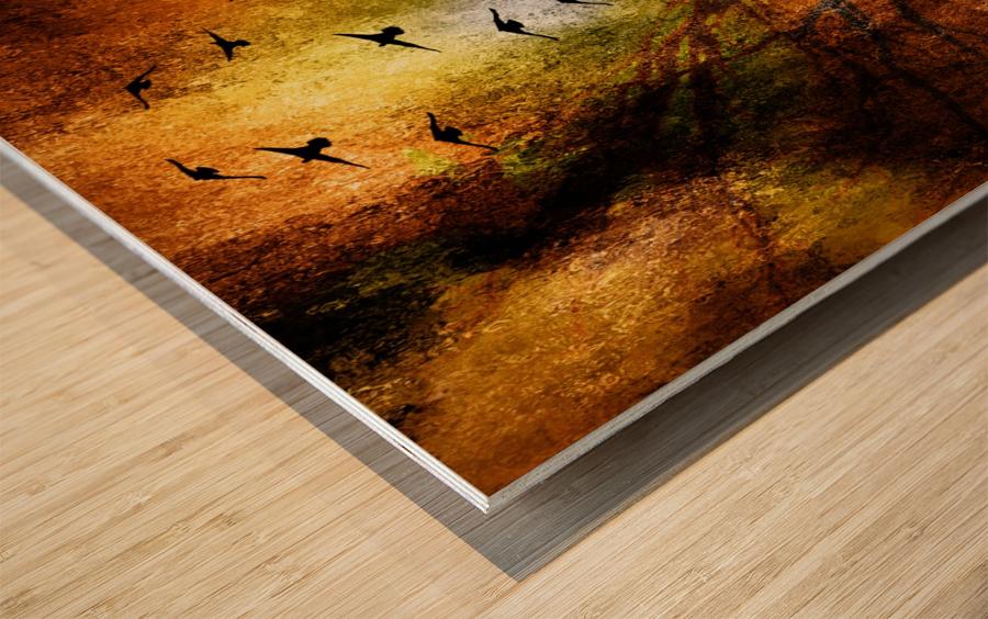 Lamp Man Wood print