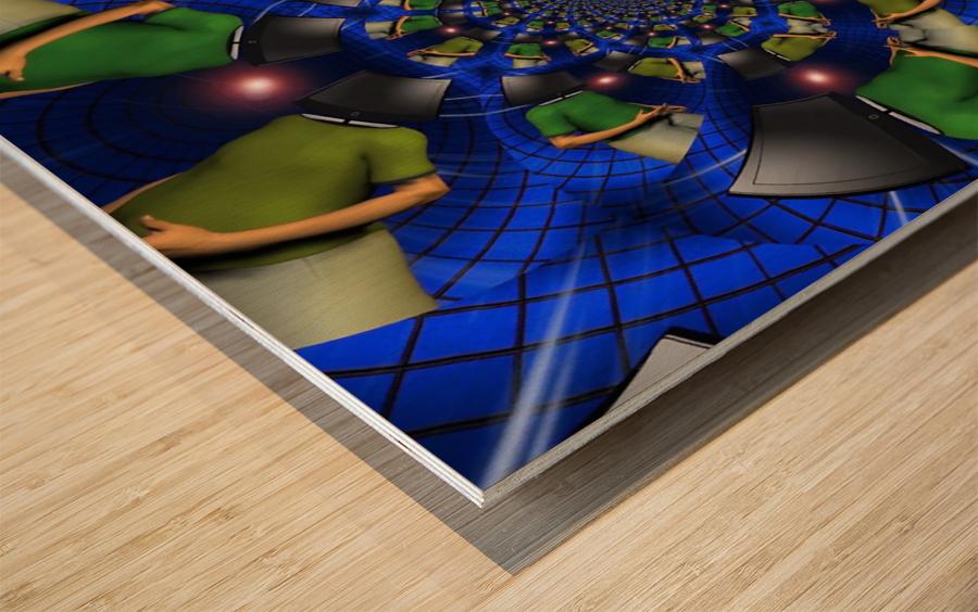 TV Head Wood print