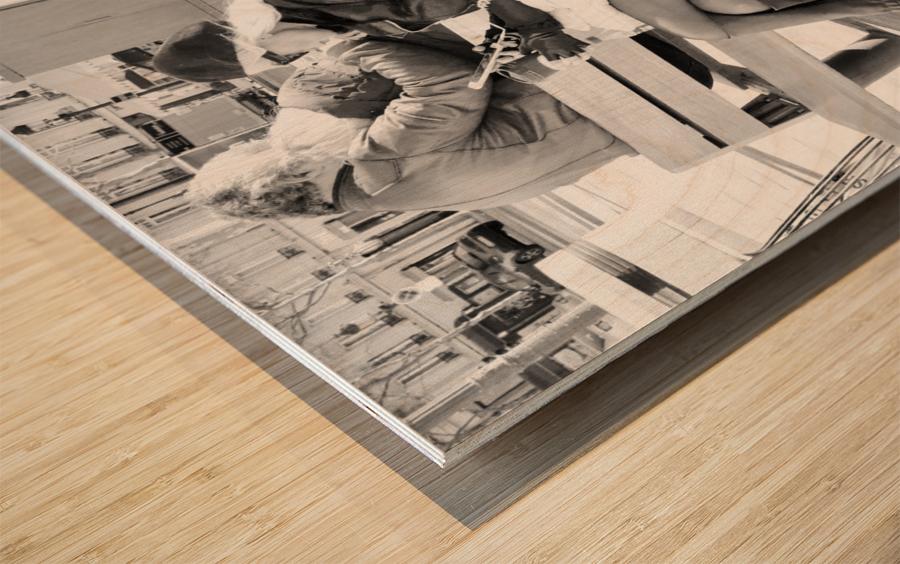 Dimanche Le Long de Champs Elysees Wood print