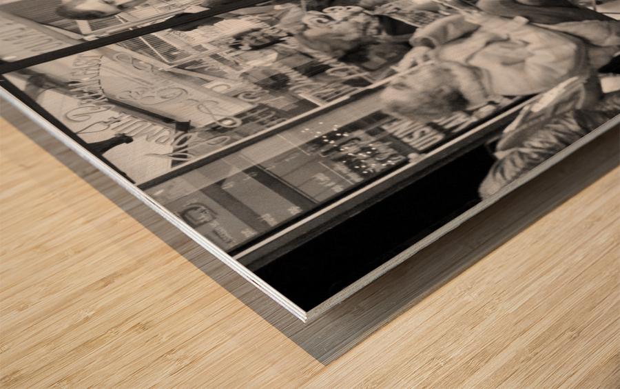 Cafe en face de Drouot Wood print