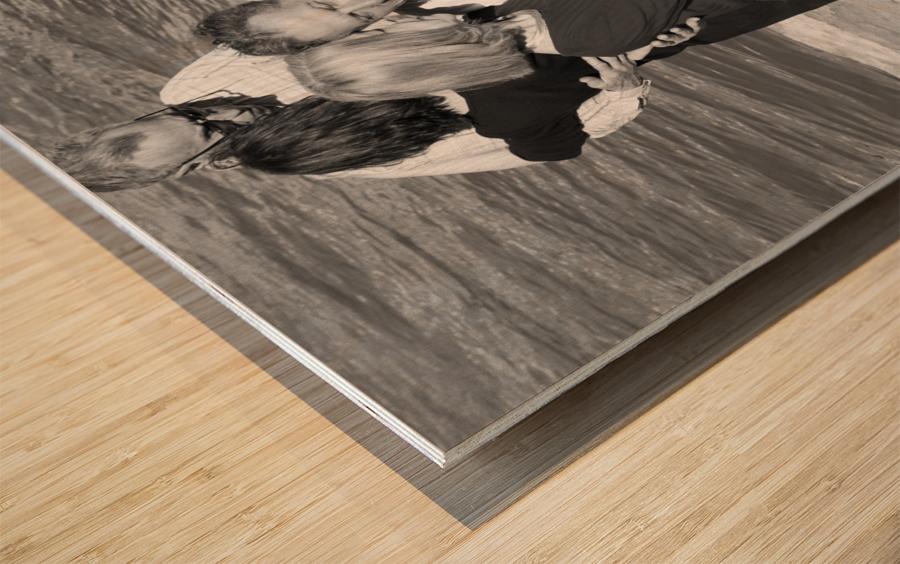Salsa de la Seine Wood print