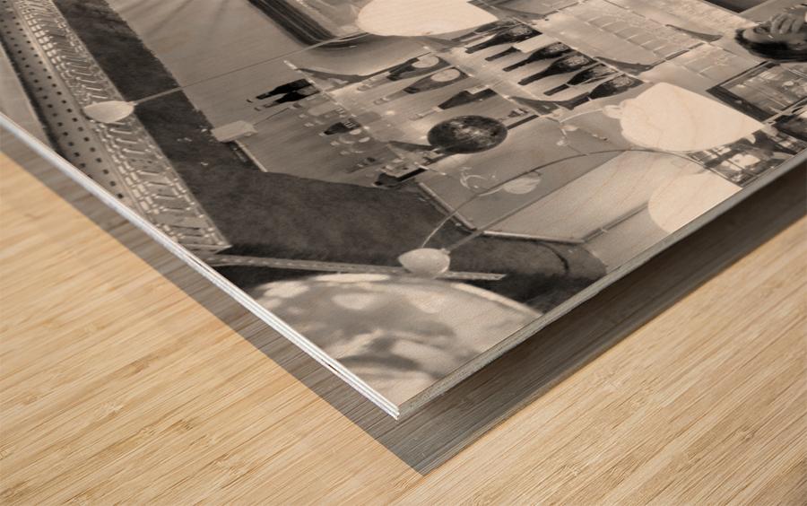Soiree dans le Griffon Wood print