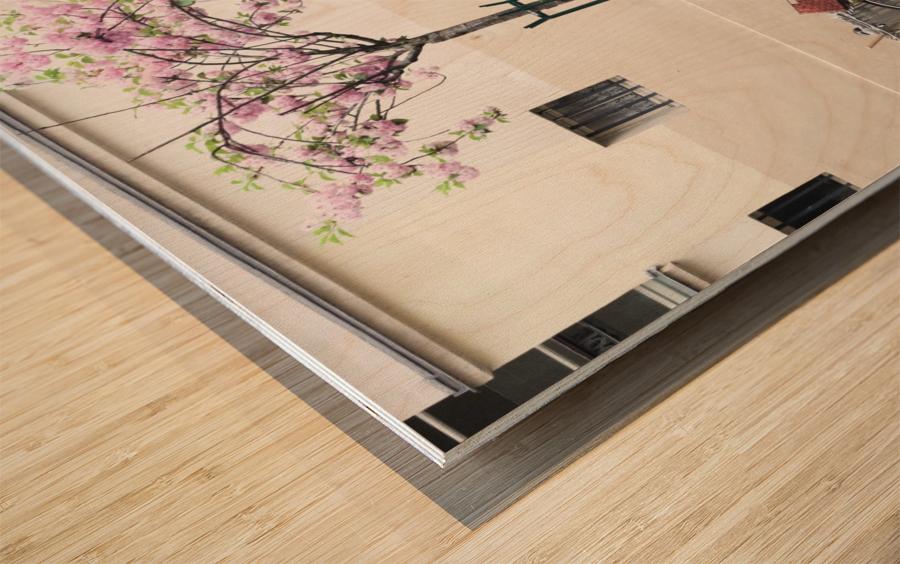Le Printemps est partout Wood print