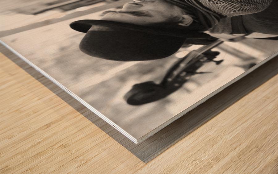 Musique rue des Francs Bourgeois Wood print