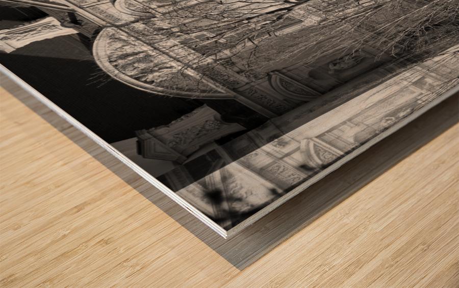 Couche du Soleil Louvre Wood print