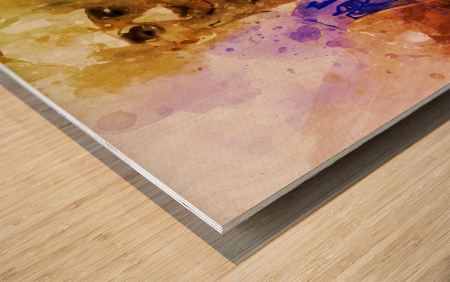 455 Wood print