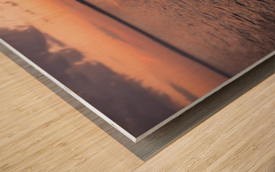 Fin de journee sur le Saint-Laurent Impression sur bois