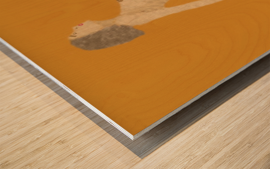 Expecting Wood print