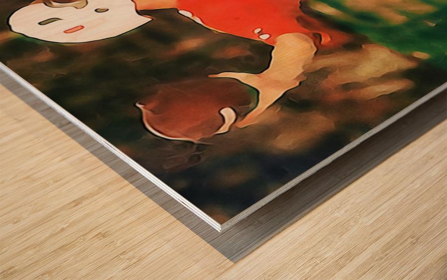 Miami Hurricanes Jim Kelly Art Wood print