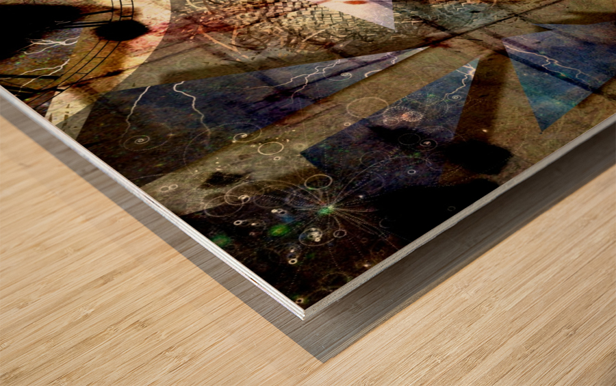 The Shards of Reality Wood print