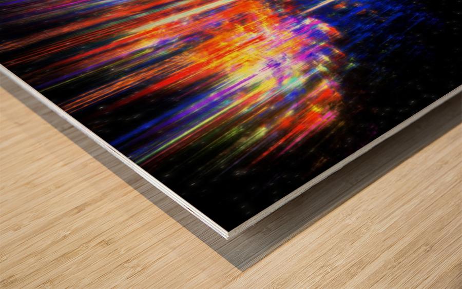 Aurora Wood print
