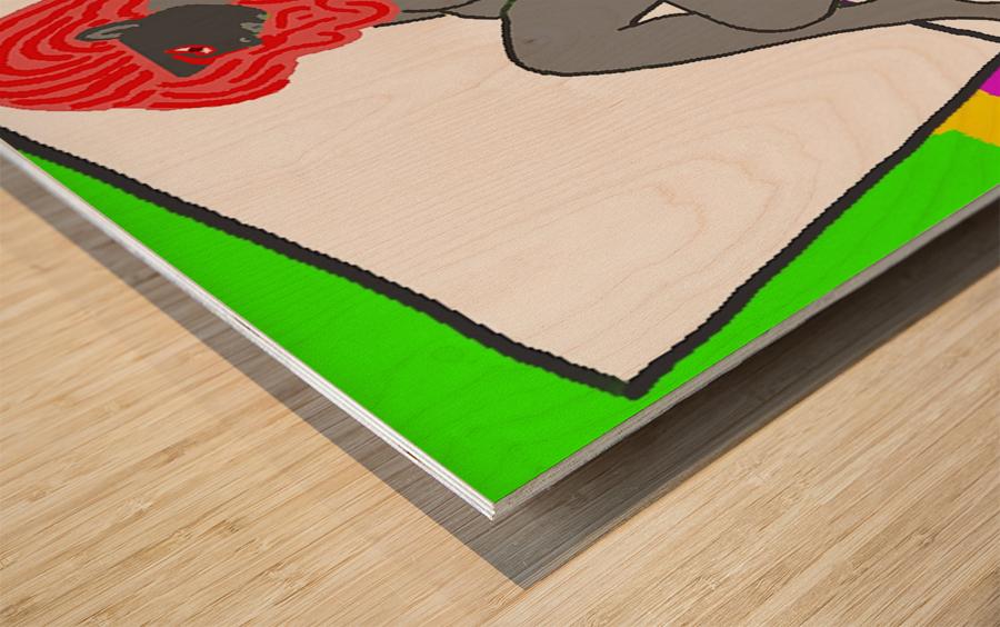 AI Woman Wood print