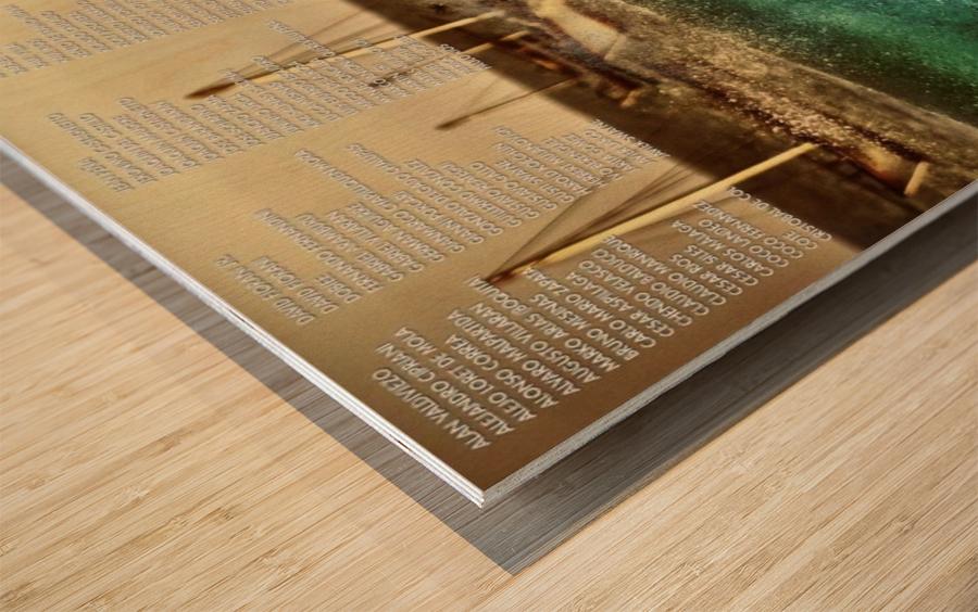 2015 BILLABONG Cabo Blanco Print - Surfing Poster Wood print
