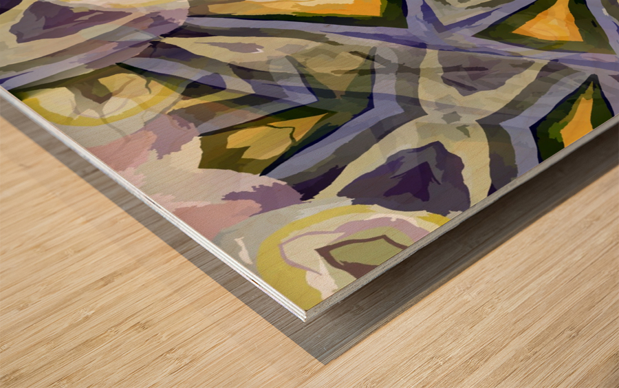Biophilian Mystique Texture  Wood print