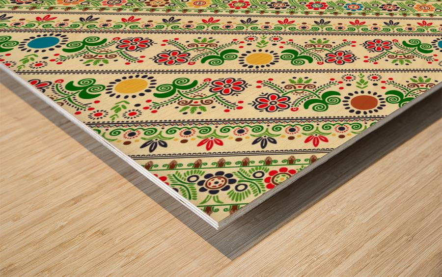 Hungarian seamless pattern  Wood print
