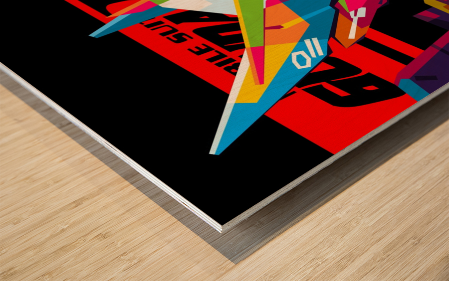 Wings Gundam Zero Pop Art Wood print
