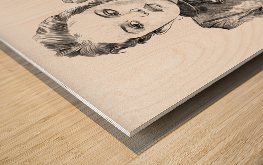 Selena Gomez - Celebrity Pencil Art Wood print