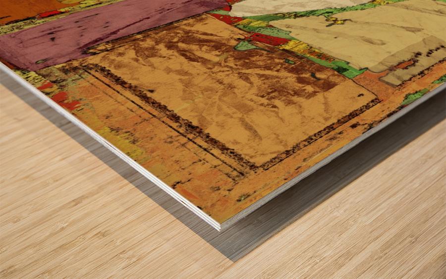 Paper trail Wood print