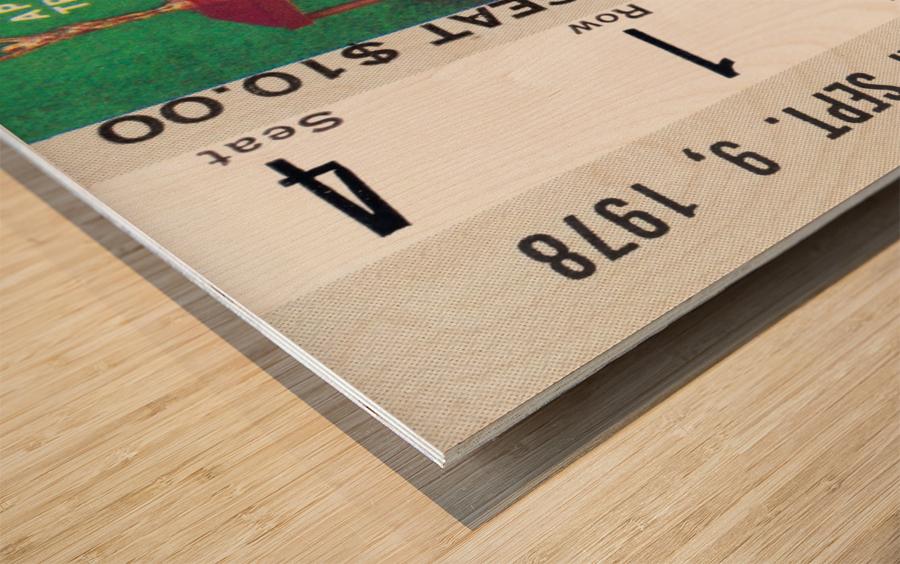 1978 notre dame football ticket stub prints Wood print