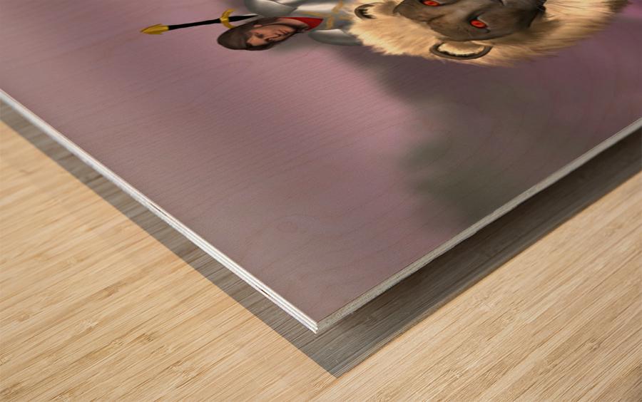 Halfling Warrior Wood print