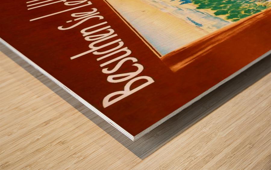 Latvia Wood print